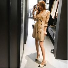 Saranghae - Double Breasted Trench Coatdress
