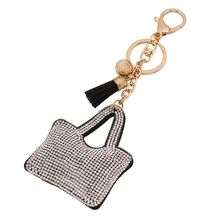 Chidori - Rhinestone Tasseled Key Ring