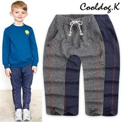 WALTON kids - Kids Drawstring-Waist Contrast-Trim Sweat Pants