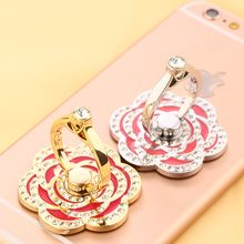 MILESI - Rhinestone Flower Mobile Ring Stand