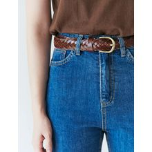FROMBEGINNING - Genuine Leather Braided Belt