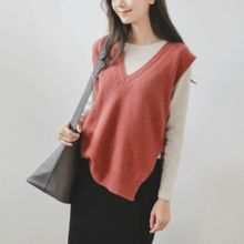JUSTONE - V-Neck Wool Blend Knit Vest
