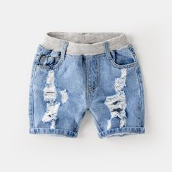 Kido - Kids Distressed Denim Shorts