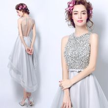 Angel Bridal - Sequined Prom Dress