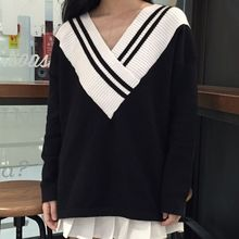 Dute - Oversized V-neck Sweater