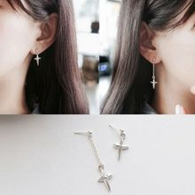 MOMENT OF LOVE - Cross Single Drop Earring