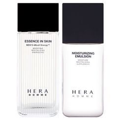 HERA - Homme Cell Vitalizing Set: Essence In Skin 125ml + Moisturizing Emulsion 110ml + Essence In Skin 20ml + Moisturizing Emulsion 20ml + Cleansing Form 25ml + Essence In BB 10ml