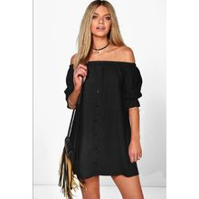 Dream a Dream - Off Shoulder Buttoned Tunic