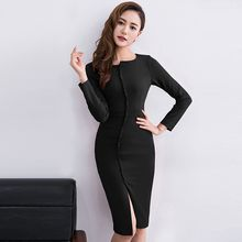 Eleganza - Long-Sleeve Sheath Dress