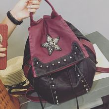 Bag Affair - Star Studded Faux Leather Backpack