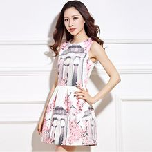 Lovebirds - Sleeveless Printed Dress