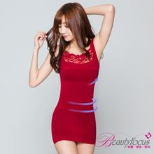 Beauty Focus - Lace Trim Shaper Tank Dress