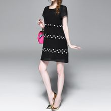 Alaroo - Dotted Short-Sleeve Dress