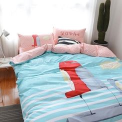 Petrie - Bed Set: Quilt + Pillowcases +  Sheet