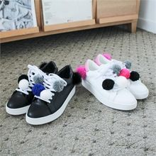GLAM12 - Pom-Pom Trim Sneakers