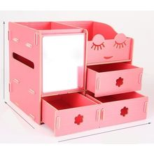 Cute Square - Wooden Desk Organizer