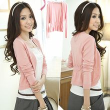 Hibisco - Ruched Open-Front Cardigan