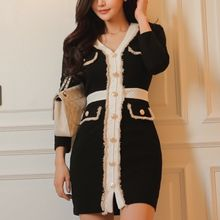 Aurora - Long-Sleeve Button Dress