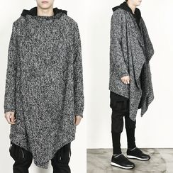 Rememberclick - Wool-Blend Asymmetric Long Cardigan