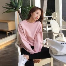 QNIGIRLS - Drop-Shoulder Long-Sleeve Pullover
