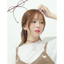 soo n soo - Genuine-Leather Bow Choker