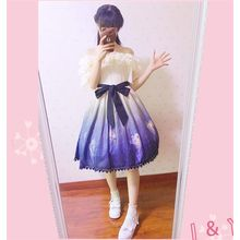 GOGO Girl - Printed Bow Frill Sleeve Dress