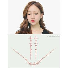 soo n soo - Set: Rhinestone Necklace + Earrings