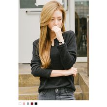 10WORLD - Cutout-Neckline Knit Top