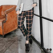 OrangeBear - Brushed Check Harem Pants