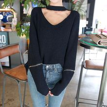 DABAGIRL - Choker-Neck Sweater