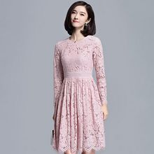 Sentubila - Lace Long-Sleeve Dress