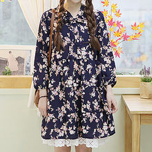 Sechuna - Tie-Front Floral-Patterned Dress