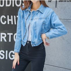 Denimot - Cropped Denim Jacket