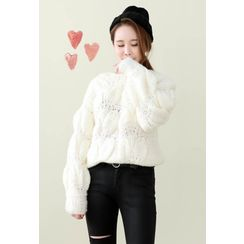 Dalkong - Round-Neck Chunky-Knit Sweater