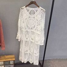 Dute - Long-Sleeve Lace Dress