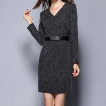 Merald - V-neck Long-Sleeve Dress