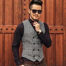 Mannmix - Tweed Double-Breasted Vest
