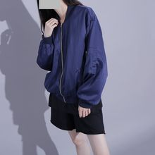 Sonne - Embroidered-Back Bubble-Sleeved Baseball Jacket