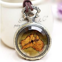 Crocosmia - Map Print Watch Necklace