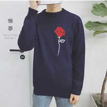 ZZP HOMME - Floral Embroidered Sweater