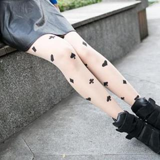 Clair Fashion - Tattoo-Print Tights