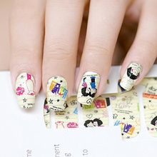 GEL NAILS - Cartoon Print Nail Wrap
