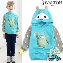 WALTON kids - Hooded Color-Block Pullover