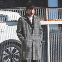 Superstar.i - Single-Breasted Glen-Plaid Coat