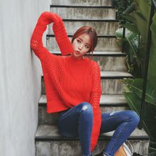 DABAGIRL - Long-Sleeve Open-Knit Top