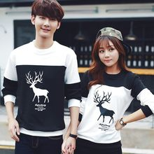 Tabula Rasa - Couple Matching Deer Colour Block Sweatshirt