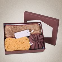 Koeman - Gift Set: Bath Sponge + Shower Ball + Pumice Stone + Back Scrubber