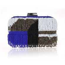 Glam Cham - Fringed Beaded Clutch