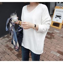 Miamasvin - V-Neck Dolman-Sleeve T-Shirt