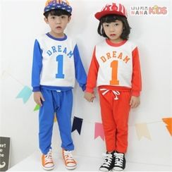 nanakids - Kids Set: Numbering Sweatshirt + Sweatpants